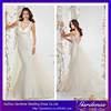 Hot Sales Sexy Open Back Wedding Dress Applique Beaded Wide Strap Trumpet Floor Length Deep V-neck Lace Mermaid Wedding Gown