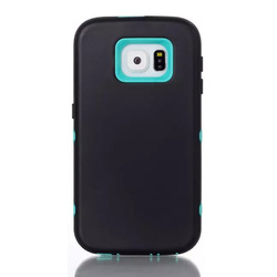 3 in 1 Hybrid Pc Tpu Case For Samsung Galaxy S6 Armor Shockproof Cover Case