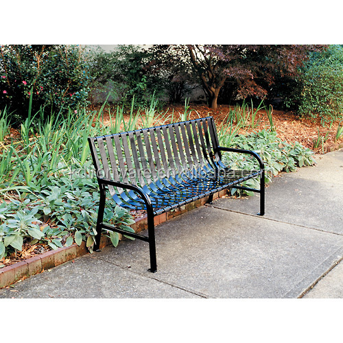 Decorative Outdoor Metal Slatted Garden Benches Black For Sale Buy Slate Garden Benches Metal