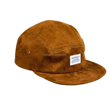Fast lead time make hats custom logo 5 panel cap suede