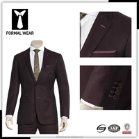 wholesale wine color 100% wool suits jacket men