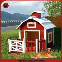 L70xW80xH80cm Cheap Big Wooden Dog House With Balcony