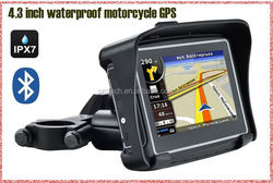 Portable Bluetooth Vehicle GPS with Lifetime Maps and Traffic Waterproof Motorcycle GPS