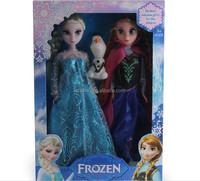 "DIHAO Frozen doll frozen 3pcs elsa anna olaf toy barbie doll wholesale figure set 11.5"" playset"