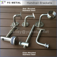Mirror Wall Mounted 304 Stainless Steel Handrail Bracket For Stairs