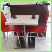 De café de lujo mesa y sillas, mesa de piedra artificial