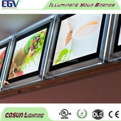 Crystal Acryilc Advertising LED Light Frame
