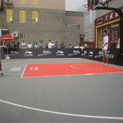 Suspended Outdoor PP Interlocking Sports floor