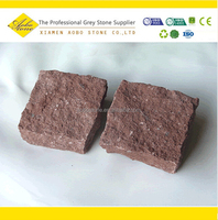 China Red granite tumbled stone