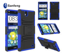 Good quality super shockproof case for ZTE Grand X Max 3 in 1 holster case with kickstand and rotatable belt clip