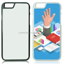 Blank hard plastic 2D sublimation phone case for iphone 6