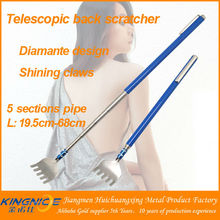 Novelty funny extendable back scratcher with pen clip
