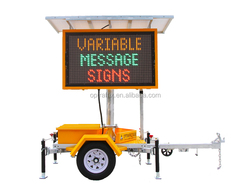 OPTRAFFIC Solar Led Screen Trailer Portable Advertising Digital Display Traffic Message Board Color Road Vms