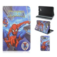 Hot! Spider-man Jumping Flip Tablet Case for Samsung Galaxy Tab 3 Lite T110 7 Inch, Folio Stand PU Leather Cover