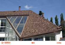 Colorful asphalt shingle/roof tiles for slope roofs to Britain, Singapore, Brazil, Ghana etc