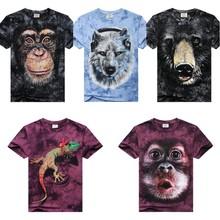 3D animal t-shirts,3d printing t-shirt,3d t-shirt