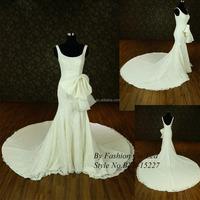 elegant mermaid sexy corset spaghetti strap Big train lace wedding gowns germany latest wedding gown designs