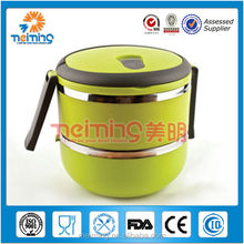 Plastic outer&SS inner portable lunch box/food carrier/plastic container