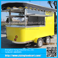 Round and Square long big coffee cart/trailer/van/kiosk coffee vending truck
