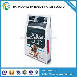Plastic 8 Side Seal Flat Bottom Bag, 25KG Aluminum Foil Pet Food Bag, Quad Bottom Dog, Cat Seal Bag