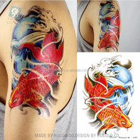 LC807/New 2015 cool gold fish designs temporary fake body tattoos sleeves for arm men