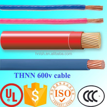 2015 best quality THHN electrical wire nylon coated wire 8 AWG THNN electrical wire for South America