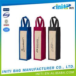 Wholesale 6 Bottle Portable Non Woven Wine Bag, Canvas Wine Bags