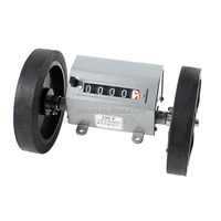 Rolling Wheel 6 Digit Meters Mechanical Length Counter Gray