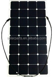 120W OEM flexible solar panel for home & yacht & RV & boat & golf carts made in china--factory direct sale
