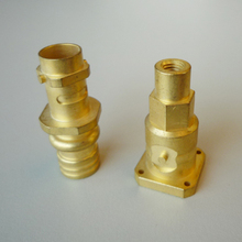 High quality brass stainless steel die casting precision products polish tread cnc machining