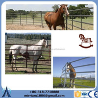 """2"""" x 4"""" spacing hinge joint best price non climbing red top 4'high horse fence"""