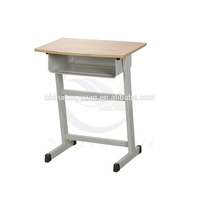 simple design used school desk and chair with metal frame