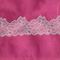 high quality jacquard white bulk lace trim for garment accessory