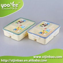 Rectangle Shap Microwaveabl Lunch Boxes With 4 Compartments(Large Size)
