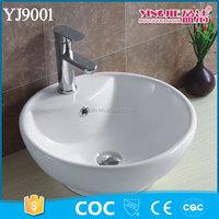 YJ9001 Foot Wash Vessel Basin Sink Tabletop for Bathroom