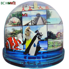 Family picture photo insert water globe