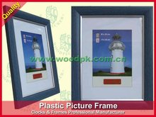 Popular picture frame, Blue color with wood grain, with Gold or Silver Line, Good Looking