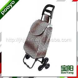 sturdy promotion shopping trolley bag golf club display rack