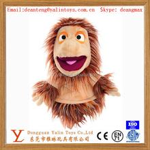 Plush animal shaped toy horse hand puppet 2015 funny design