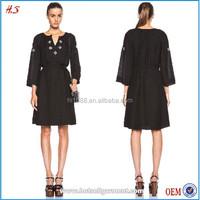 New arrival latest long sleeve design women dresses frock design
