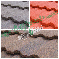 Stone Coated Metal Roofing / Colorful Stone Coated Roof Tiles / Heat insulation building material steel roof tile