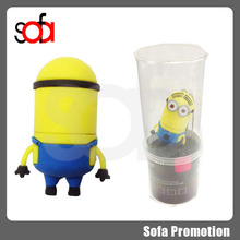 Popular yellow color minion usb with promotion price