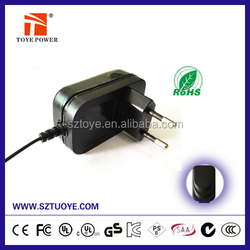 Wall mounted 12V 0.5A AC DC Adapter/ 6W Switching power supply /Led drive