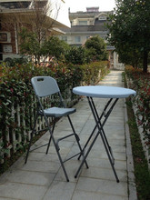 Outdoor used blow molding plastic bar table and chair