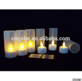 eléctrico de control remoto vela del led deiluminación de color amarillo cl210812ry