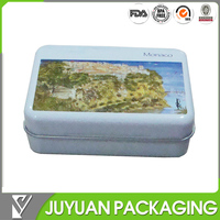 small metal decorative chocolate candy or soap packaging tin box
