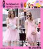 Pink Elegant Maternity Dress V Neck Maternity Dress
