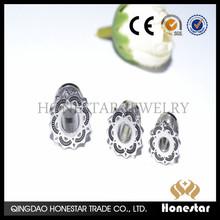 PUNK stainless Steel Ear Tunnels Expanders Plugs Body Jewelry Tapers Stretcher ear piercing jewelry