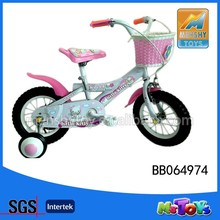 2015 12' kids bicycle/kid's bike with four wheel children's bike for girl