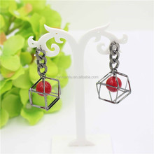 wholesales red bead charm earrings,Stereo pendant earrings,2015 yiwu fashion earring designs new model earrings